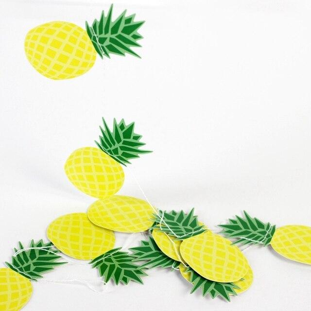 Лето ананас гирлянды баннер домашнего декора гирлянды фруктов Тропический гавайский День рождения Свадебные show Pool Party flamingle украшения