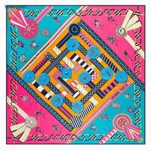 4ef10d7bc75a3 130cm 130cm scarf women twill silk scarf square New Arrival 2017 Famous  Luxury Brand Designer Pattern