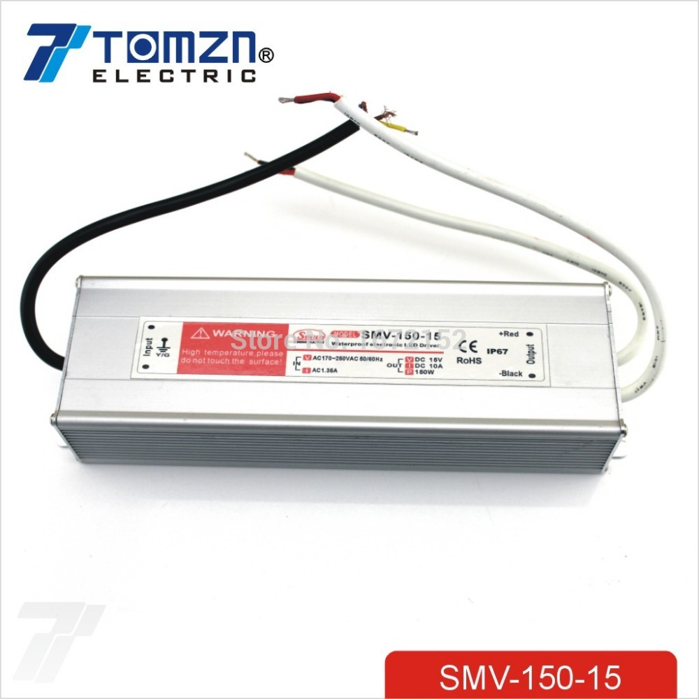цена на 150W 15V 10A Waterproof outdoor Single Output Switching power supply SMPS suply AC TO DC