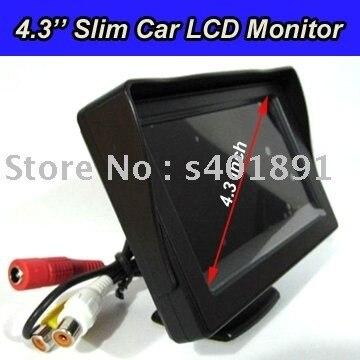 Free Shipping 2 AV IN Digital 4.3'' Car Monitor with 1 Year Warranty
