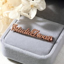 Customized Any Name Brooch Pins Personalized Initial Letters Brooches Handmade Jewelry Wedding Bridesmaid Gifts for Women Men