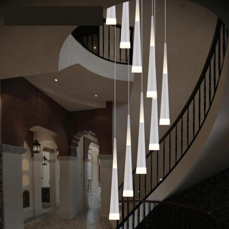 Современная лестница люстра Потолочная Подсветка салона длинные лестницы люстра подвесной светильник подвесной Люстры светильник Подвес...