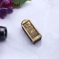 REAL FEEL 8.7*3.2CM fengshui Four treasures of Chinese study antique SEAL mental toy home decoration collectible
