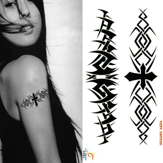 Us 499 Tymczasowe Tatuaże Pasek Krzyż Stylu Ryby Arm Fałszywy Tatuaż Naklejki Transferu Hot Sexy Mężczyzna Kobiet Sprayu Wodoodporne Wzory W