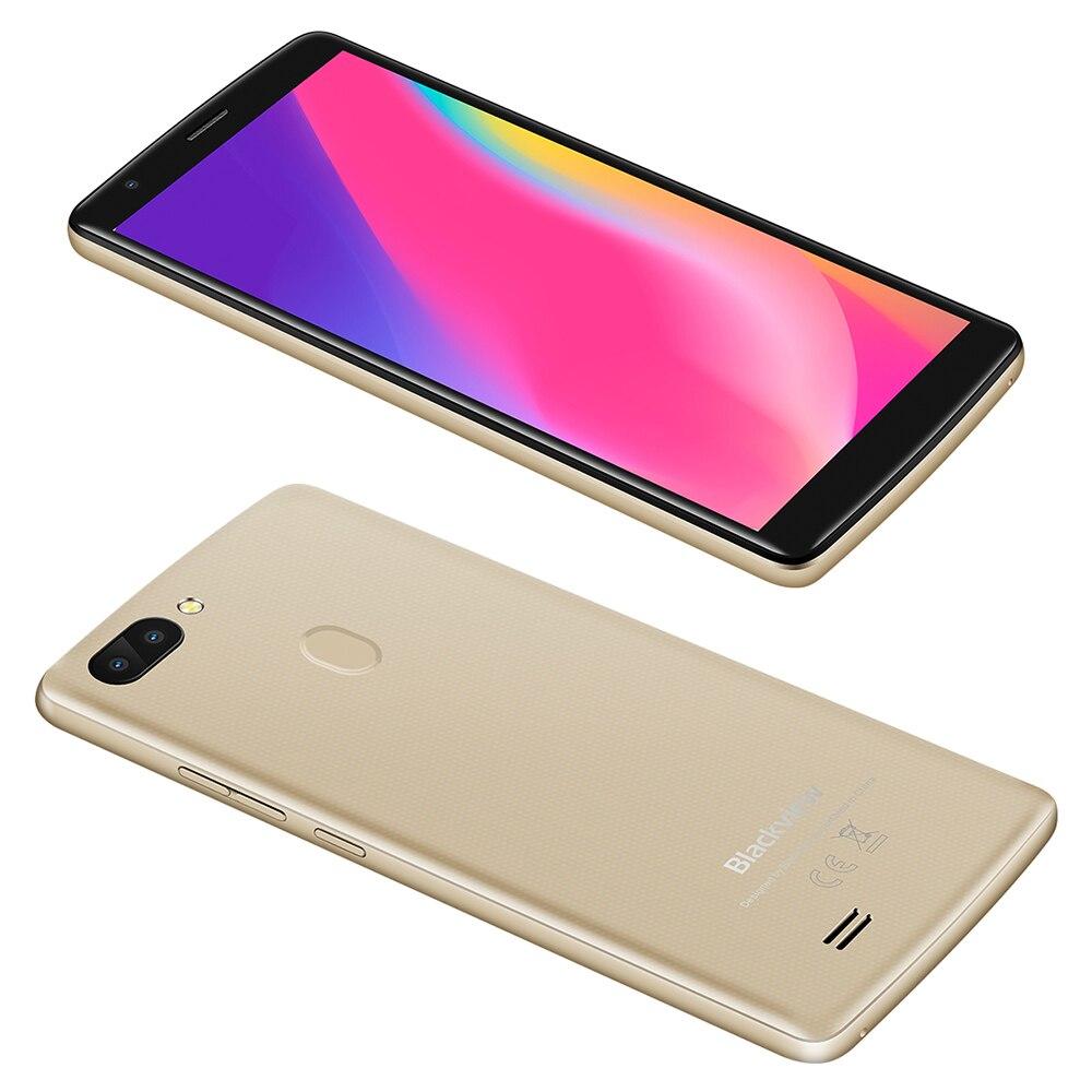Blackview A20 Pro 4G LTE téléphone portable MTK6739 Quad Core 2 GB RAM 16 GB ROM Android 8.1 8.0MP 3000 mAh 18:9 HD 5.5 pouces Smartphone - 4