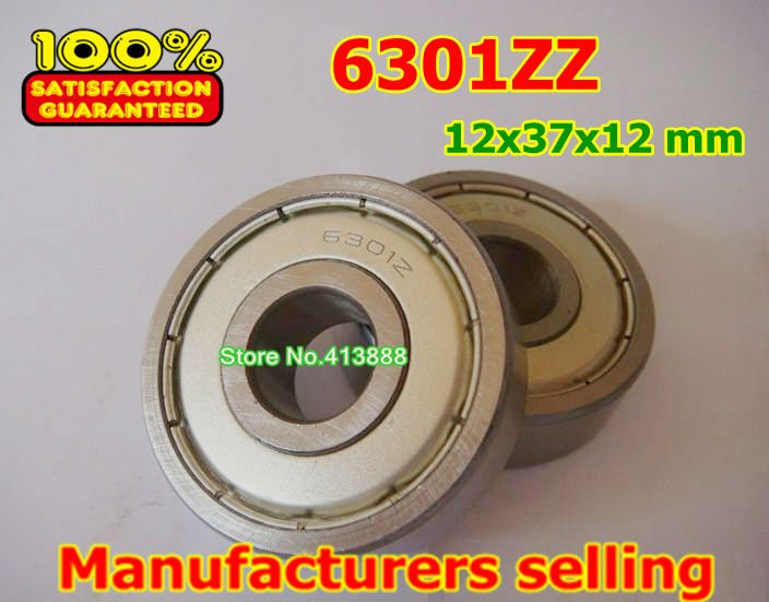 Прямая с фабрики 6301 6301ZZ 6301-2Z 6301Z 80301 12*37*12 мм высокое качество глубокий шаровой подшипник 10 шт./партия