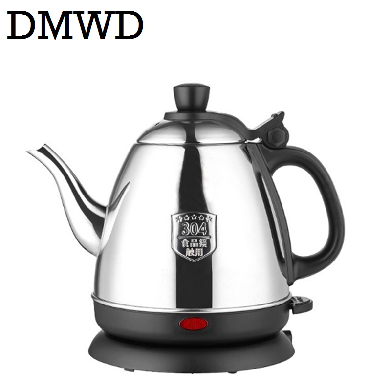 все цены на DMWD Electric kettle Water Heating Stainless steel Boiler hot Drink Heater Split Style Teapot Auto power off Cup Pot 0.8L 1000W онлайн