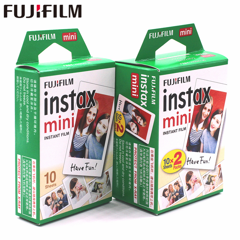 Filme para Instax Folhas Genuine Fuji Fujifilm Instax Mini Filme 8 30 Câmera Instantânea 7 Borda Branca s 25 50 90 9 Papel Fotográfico