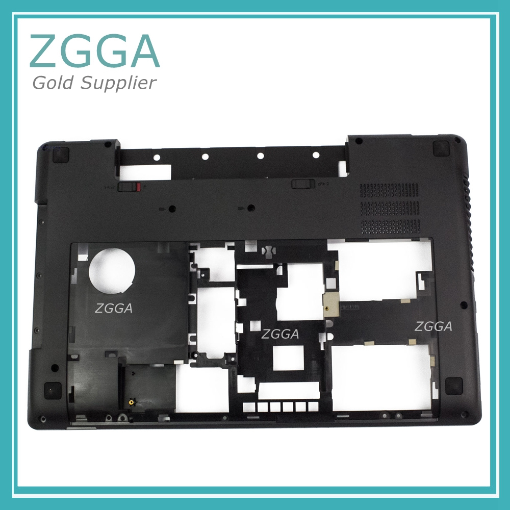 New Genuine For Lenovo Y580 Y585 Y580N Laptop Bottom Cover Replace Base Lower Case Shell China Supplier AP0N0000500 90200851 gzeele new laptop bottom base case cover for hp for elitebook 8560w 8570w base chassis d case shell lower case 652649 001 black