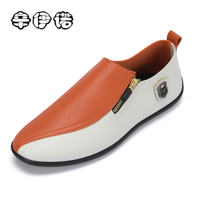 2018 New arrival Low price Mens Breathable High Quality Casual Shoes PU Leather Casual Sneaker Slip On men Fashion Flats Loafer hot sales new fashion dandelion spikes mens loafers high quality suede black slip on sliver rivet flats shoes mens casual shoes