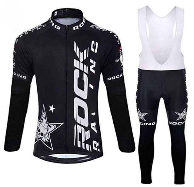 Rock 2019 primavera/outono roupas de ciclismo dos homens conjunto de roupas de bicicleta respirável anti-uv bicicleta wear/manga longa ciclismo jérsei conjuntos 2