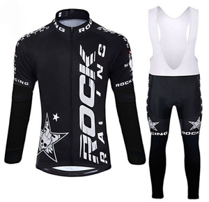Image 2 - Rock 2019 Spring/Autumn Cycling Clothing Men Set Bike Clothing Breathable Anti UV Bicycle Wear/long Sleeve Cycling Jersey Sets