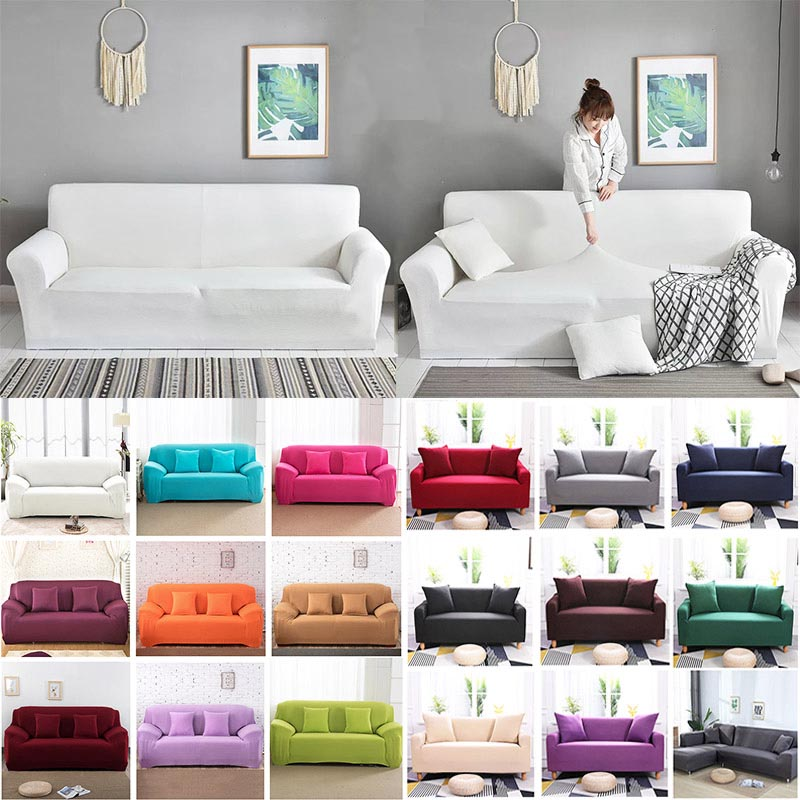 Sofa Cover For Living Room Elasticity Non-slip Couch Slipcover Universal Spandex Case For Stretch Sofa Cover 1/2/3/4 Seater