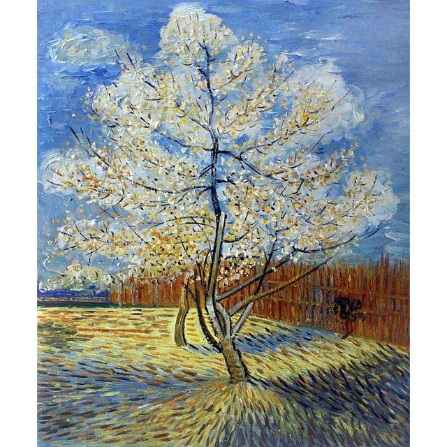 Top Canvas wall pictures pop art Pink Peach Tree oil painting Vincent  WB48