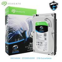 Seagate Internal Skyhawk HDD 2TB ST2000VX008 Video Surveillance Hard Disk Drive 3.5 5900RPM SATA 6Gb/s 64MB Security Monitoring