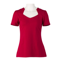 Online Boutiques Red Black Tops Cotton American Vintage Ladies T Shirts 50s Style Rockabilly Retro Clothing