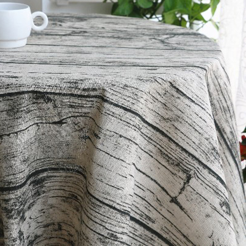sold by half a meter table cloth material vintage wooden print cotton linen fabricchina