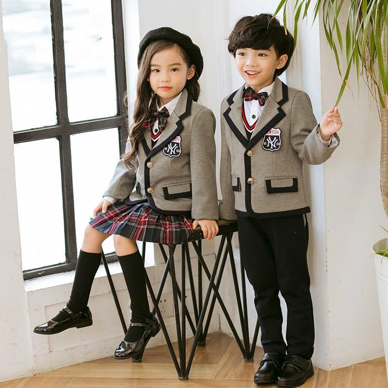 Japanese Korea school uniform girl and boy winter clothing for school uniforme escolar costume for girl and boy suit