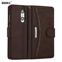 IDOOLS Brand Redmi Note 4 Case Leather TPU Dirt Resistant Wallet Flip Cover Phone Bags Cases