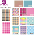 55sheet/LOT BLE2061-2071/SET Grid design Full Cover Nail tips nail sticker DECAL NAIL WATER STICKER DECAL stickers on nails