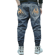 Brand Cotton Denim Jeans Retro Nostalgia Stretch High Quality  Jeans Men Plus Overize 34-48 Casual Men jeans Long Pants Trousers men s spring style jeans brand denim jeans men s jeans pants high quality 2016 new fashion leisure casual cotton baggy jeans 5xl