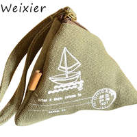 WEIXIER Women Canvas Small Coin Purse Girls Wallet Children Kids Coin Pouch Luxury Female Change Purse Clutch Card Holders ZK 82