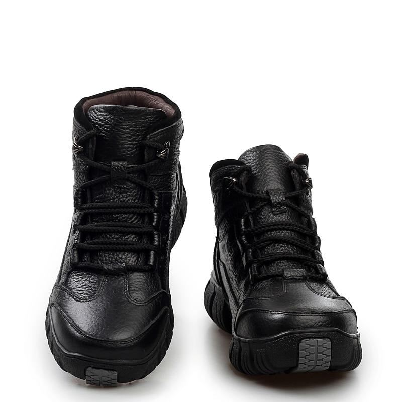 Fur Pour with Bottes Cuir Fur En Super Chaud Zapatos Véritable Militaire Fourrure With Hiver Hombre Hommes Chaussures D'hiver D9IWbeYEH2