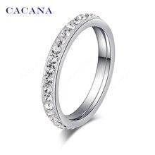 No. surround cacana диаманта cz небольшой кольца нержавеющей стали изделия оптовая