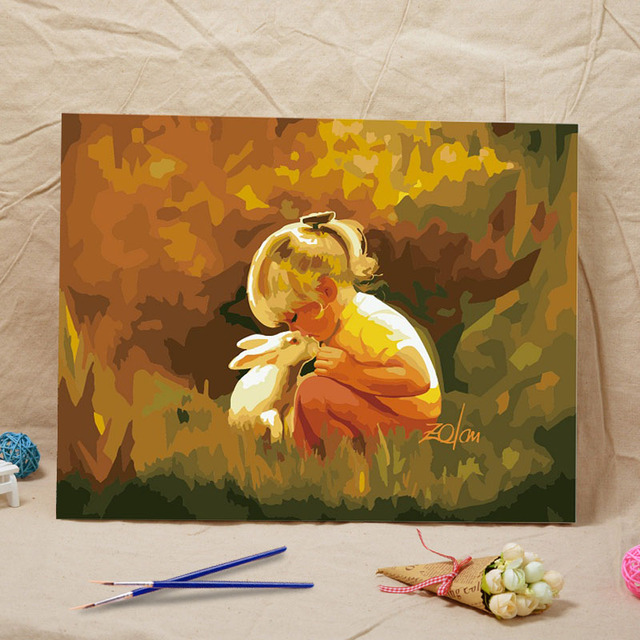 Peinture À L'Huile Image Coloration Par Des Numéros De Bricolage À