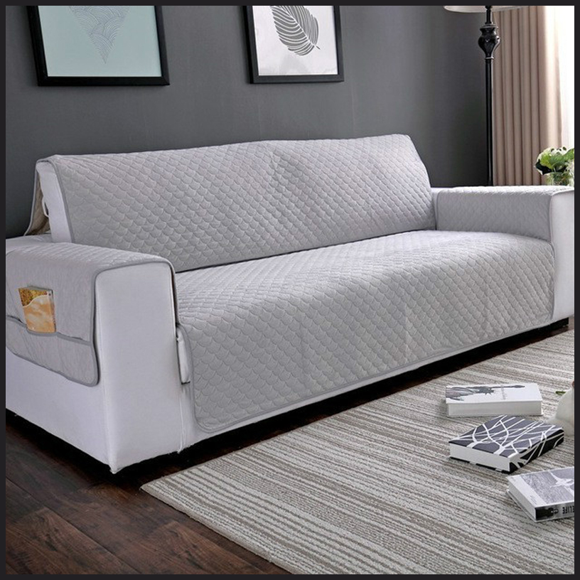 New Quilted Sofa Cover For Pets Kids Protector Slipcover Stretch Elastic Sofa Covers For Living Room Sofa Chair Recliner Cover