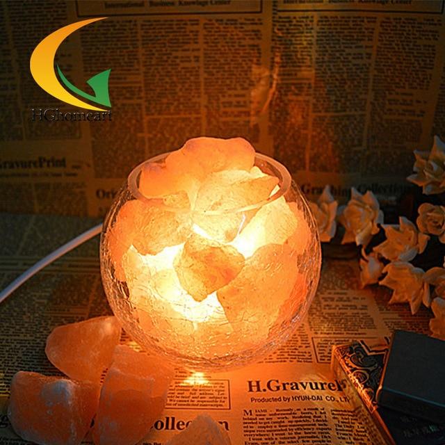 Himalayan salt crystal lamp dimmable night light table lamp bedroom bedside lamp European table lamp