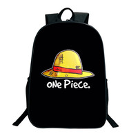 2019 ONE PIECE School Bags 16 Inch Anime Bookbag Children Teenagers Backpack Men Women Shoulder Bag Luffy Chopper School Gifts