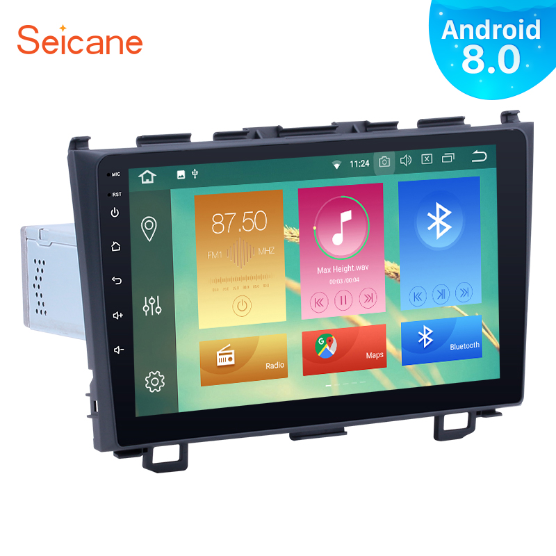 Seicane One Din Android 8.0 9inch Car Radio Stereo GPS Navigation Multimedia Player For Honda CRV 2006 2007 2008 2009 2010 2011