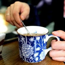 Beautiful Flower Pattern Ceramic Morning Mug William Morris Style Bone  China Mugs For Coffee Milk Tea