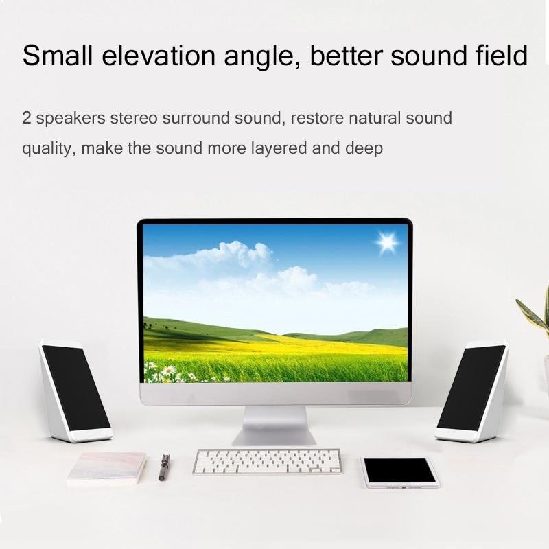 USB Wired Computer Speakers 2 Pieces PC Elevation Angle Horns for Laptop Desktop Phone Audio Speaker Multimedia Loudspeaker 3