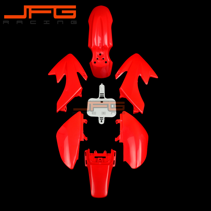 Red Plastic Kit Fender Farings For CRF50 XR50 Dirt Bike Chinese Pit Bike 50 70 90cc cool complete red white plastic kit fender plastic number plate for honda crf110f 2013 2016 pit bike dirt bike thumpst