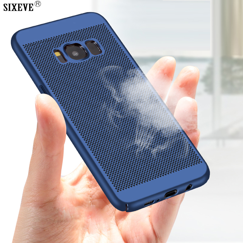 reputable site 551aa d63f2 US $1.59 20% OFF|SIXEVE Ultra Thin Cell Phone Case For Samsung Galaxy S5  Neo S6 S7 Edge S8 S9 Plus Duos Slim Back Cover Hard Plastic Casing Coque-in  ...