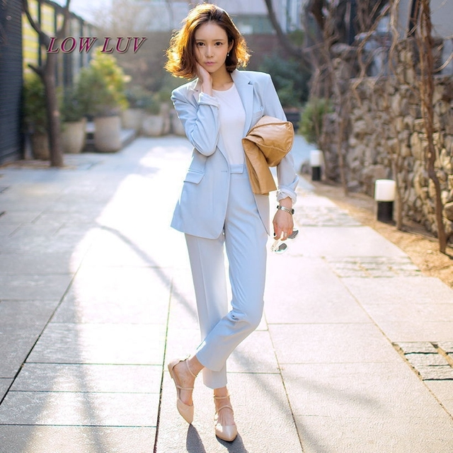 Pant Suits Women Casual Office Business Suits Formal Work Wear Sets