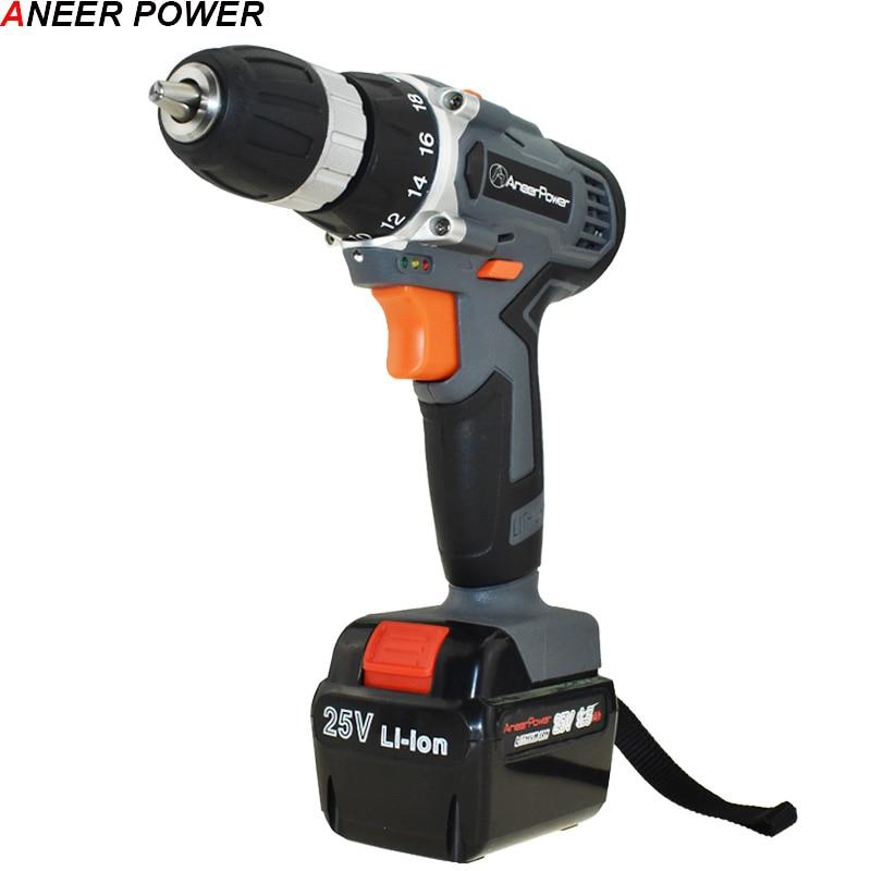 25V Drill Power Tools Cordless Drill Electric Drill Mini Drilling Electric Screwdriver Electric Batteries Screwdriver Eu Plug