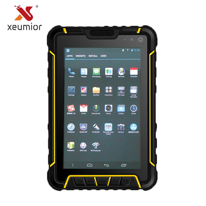 7'' Android IP67 Waterproof Industrial Tablet with 4G WIFI BT GPS CCD Barcode Scanner LF NFC UHF RFID Reader Fingerprint original 7 shockproof rugged waterproof tablet pc octa cores cell phone gnss gps 2 5 glonass lf uhf rfid android 4 2 zigbee nfc