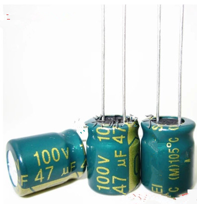 <font><b>100V</b></font> <font><b>47UF</b></font> <font><b>47UF</b></font> <font><b>100V</b></font> Electrolytic <font><b>Capacitors</b></font> volume: 10X13 best quality image