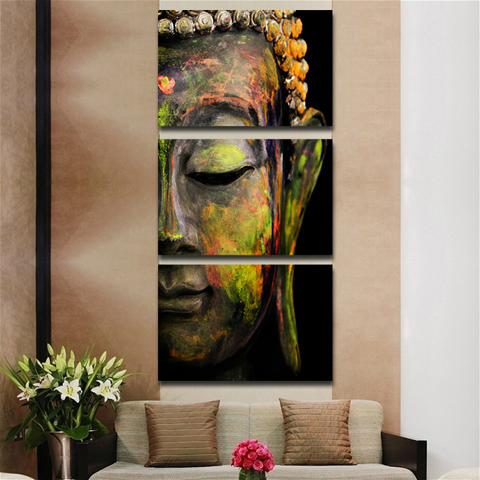 Buddha Wall Art Abstract Buddhist Canvas Print Art Home Decor For Living Room Contemporary Pictures 3