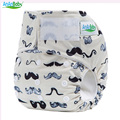 AnAnBaby New Deisgn Baby Cloth Diaper Nappies With Hookloop Square Tab Suede Cloth Inner Prints Diaper Cover For Sale