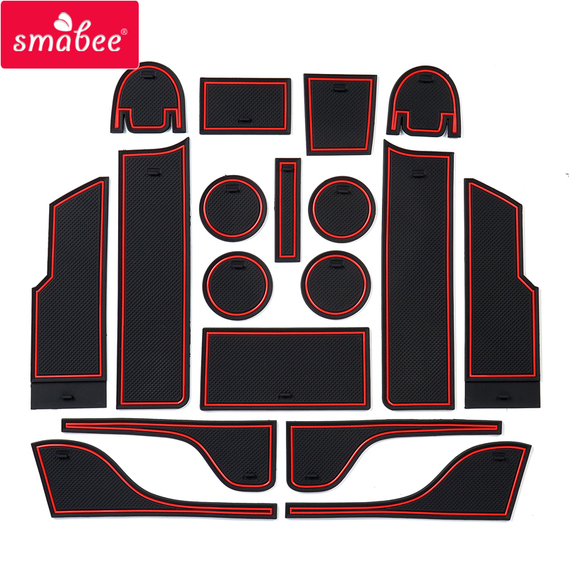 Smabee Anti-Slip Gate Slot Mat For Ford Mondeo Fusion 2013 ~ 2019 Rubber Cup Holders Non-slip Mats Accessories Car Sticker 18P