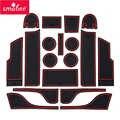 Smabee Anti-Slip mat fessura del Cancello Per Ford Mondeo Fusion 2013 ~ 2019 Coppa di Gomma Titolari Non-slip tappeti Accessori Auto sticker 18 P