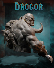 Unpainted Kit 1/10  ancient Orcish with big Axe bust fantasy   Resin Figure miniature garage kit