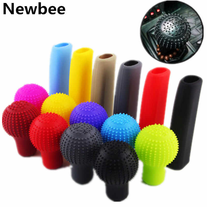 Universal Manual Car Gear Shift Knob Collars Protective Cover Case Anti Slip Soft Silicone Car Hand Brake Grip  Handbrake Cover