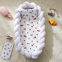 90*55cm Baby Nest Bed Portable Crib Travel Bed Infant Toddler Cotton Cradle For Newborn Baby Bassinet Bumper Bed foldable sleeping crib bed portable crib bassinet basket baby travel bed baby bumper baby crib bedding sets 90 50 15cm