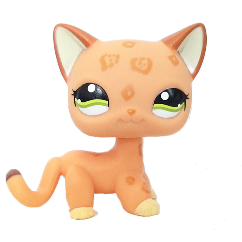 "LPS #525 COLLECTION Action Figure Deep Orange KITTY TOY 3/"" LITTLEST PET SHOP"