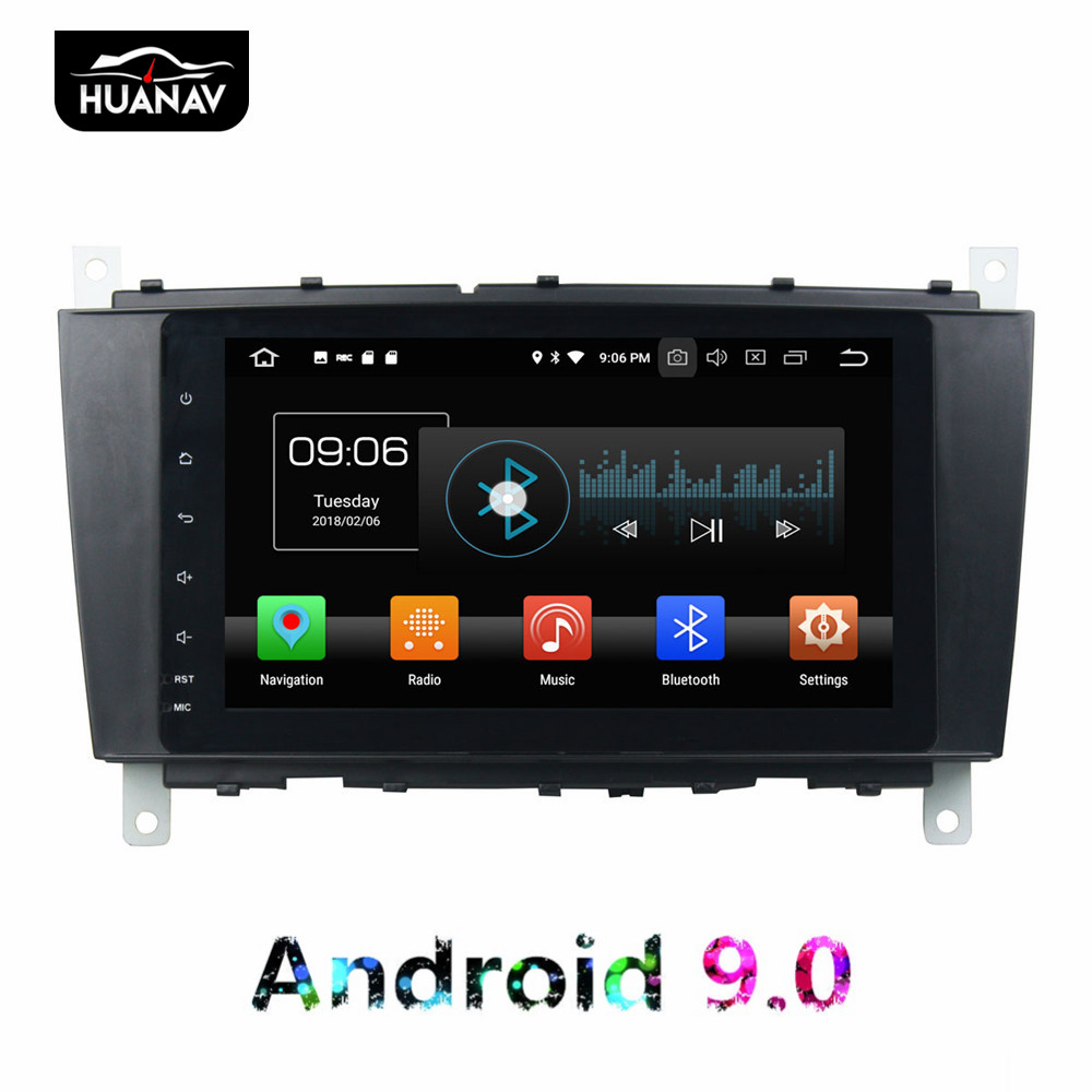 DSP Android 9 <font><b>Car</b></font> GPS Navigation DVD Player For <font><b>ML</b></font> <font><b>W163</b></font>/CLK W2092002-2005 C-Class W203 SLK Auto <font><b>radio</b></font> multimedia Stereo recorder image